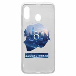 Чохол для Samsung A20 Silhouette City Detroit: Become Human