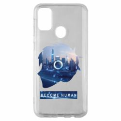 Чохол для Samsung M30s Silhouette City Detroit: Become Human