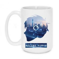 Кружка 420ml Silhouette City Detroit: Become Human