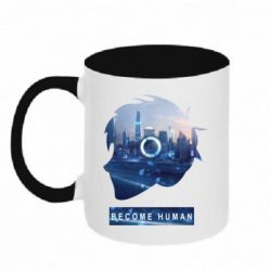 Кружка двоколірна 320ml Silhouette City Detroit: Become Human