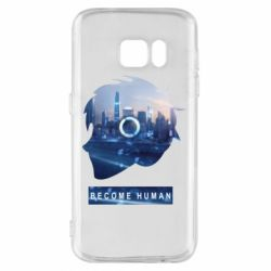 Чохол для Samsung S7 Silhouette City Detroit: Become Human