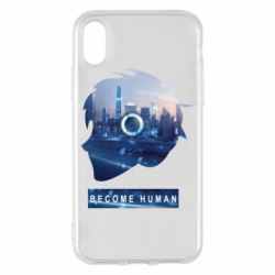 Чохол для iPhone X/Xs Silhouette City Detroit: Become Human