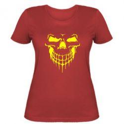 Женская футболка Silhouette of a skull