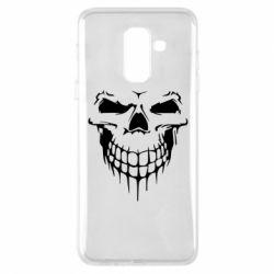 Купить Черепа, Чехол для Samsung A6+ 2018 Silhouette of a skull, FatLine