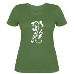 Женская футболка Silhouette of a tiger