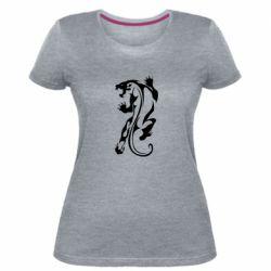 Женская стрейчевая футболка Silhouette of a tiger