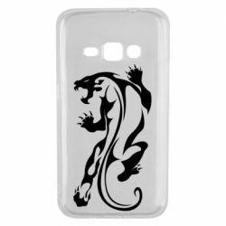 Чехол для Samsung J1 2016 Silhouette of a tiger