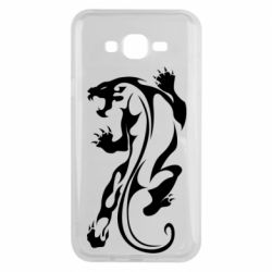 Чехол для Samsung J7 2015 Silhouette of a tiger
