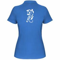 Женская футболка поло Silhouette of a tiger