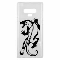 Чехол для Samsung Note 9 Silhouette of a tiger