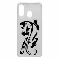 Чехол для Samsung A40 Silhouette of a tiger