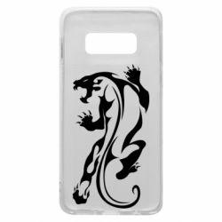 Чехол для Samsung S10e Silhouette of a tiger