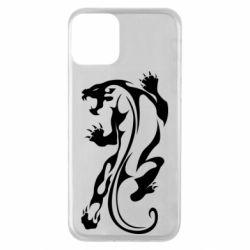 Чехол для iPhone 11 Silhouette of a tiger