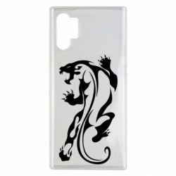Чехол для Samsung Note 10 Plus Silhouette of a tiger
