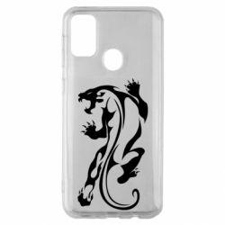 Чехол для Samsung M30s Silhouette of a tiger