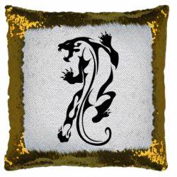Подушка-хамелеон Silhouette of a tiger