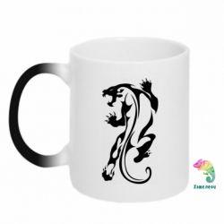 Кружка-хамелеон Silhouette of a tiger