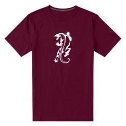 Мужская стрейчевая футболка Silhouette of a tiger