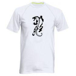 Мужская спортивная футболка Silhouette of a tiger