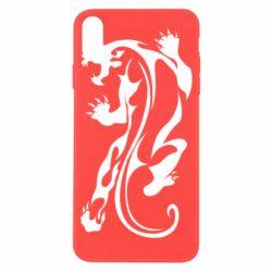 Чехол для iPhone X/Xs Silhouette of a tiger