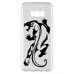 Чехол для Samsung S8+ Silhouette of a tiger