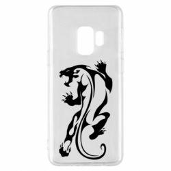 Чехол для Samsung S9 Silhouette of a tiger