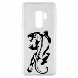 Чехол для Samsung S9+ Silhouette of a tiger