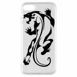 Чехол для iPhone 8 Silhouette of a tiger