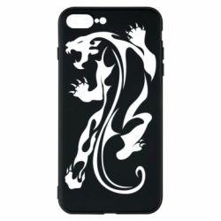 Чехол для iPhone 8 Plus Silhouette of a tiger