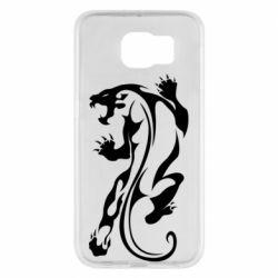 Чехол для Samsung S6 Silhouette of a tiger