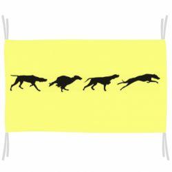 Флаг Silhouette of hunting dogs
