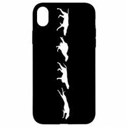 Чехол для iPhone XR Silhouette of hunting dogs