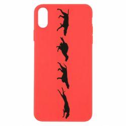 Чехол для iPhone Xs Max Silhouette of hunting dogs