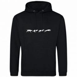 Мужская толстовка Silhouette of hunting dogs