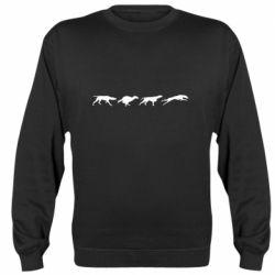 Реглан (свитшот) Silhouette of hunting dogs