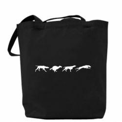 Сумка Silhouette of hunting dogs