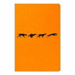 Блокнот А5 Silhouette of hunting dogs