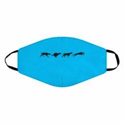 Маска для лица Silhouette of hunting dogs