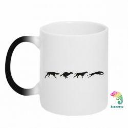 Кружка-хамелеон Silhouette of hunting dogs