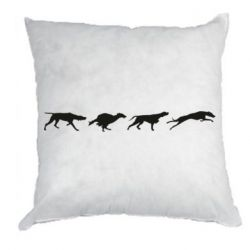 Подушка Silhouette of hunting dogs