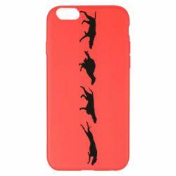 Чехол для iPhone 6 Plus/6S Plus Silhouette of hunting dogs