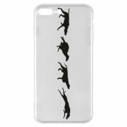 Чехол для iPhone 7 Plus Silhouette of hunting dogs