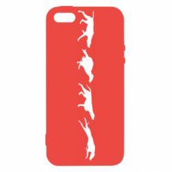 Чехол для iPhone5/5S/SE Silhouette of hunting dogs