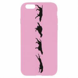 Чехол для iPhone 6/6S Silhouette of hunting dogs