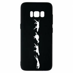 Чехол для Samsung S8 Silhouette of hunting dogs