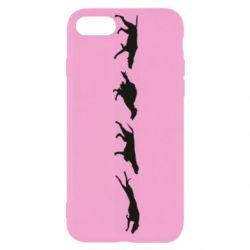 Чехол для iPhone 8 Silhouette of hunting dogs