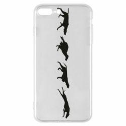 Чехол для iPhone 8 Plus Silhouette of hunting dogs