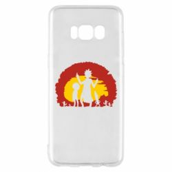 Чохол для Samsung S8 Silhouette of Rick and Morty at Sunset
