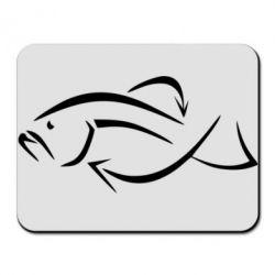 Коврик для мыши Силуэт рыбы - FatLine