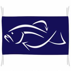 Флаг Силуэт рыбы